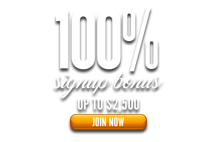 100% Signup Bonus Up To $2,500